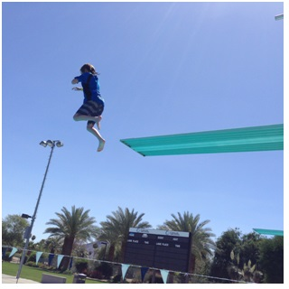 Taking the Risk-Boy Diving