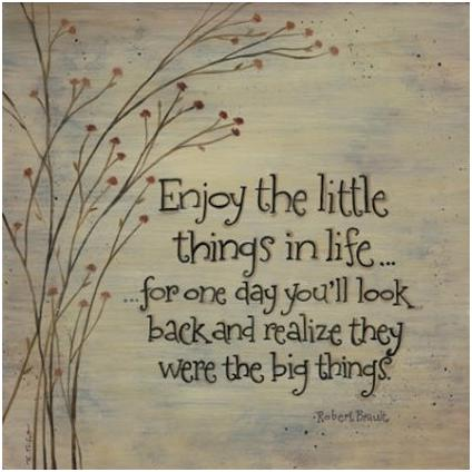 Enjoy Little Things in Life