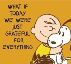 Snoopy Cartoon on Gratitude, Dr. Barb Psychologist